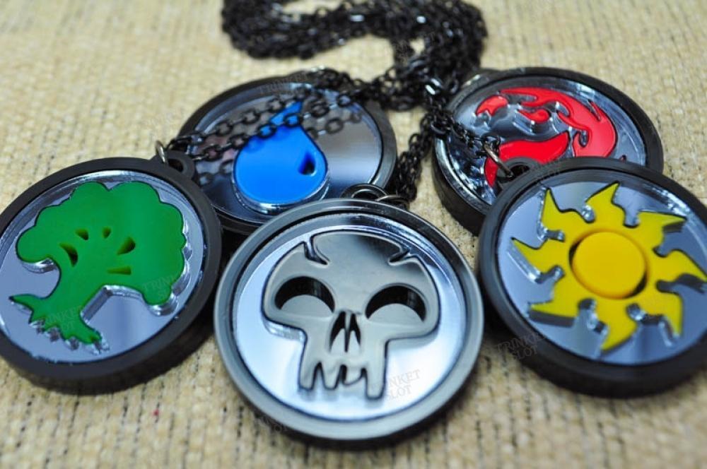 MTG Mana Type Necklace