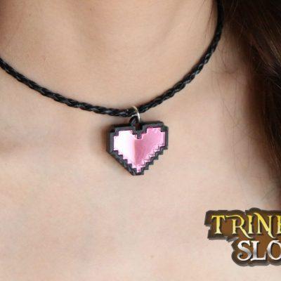 pixel heart choker